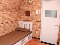 1人1部屋の個室待機