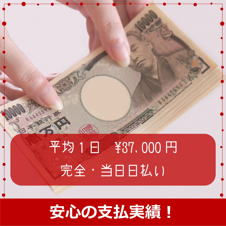 毎月:1日平均 3万円~5万円