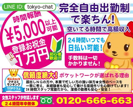 ポケットワーク(東京)の求人バナー
