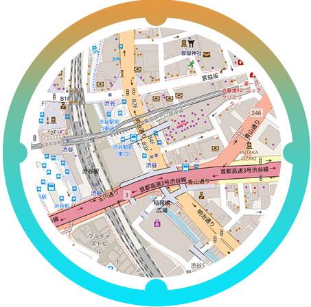 渋谷駅周辺の地図
