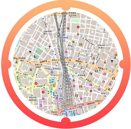 新宿・歌舞伎町駅周辺の地図