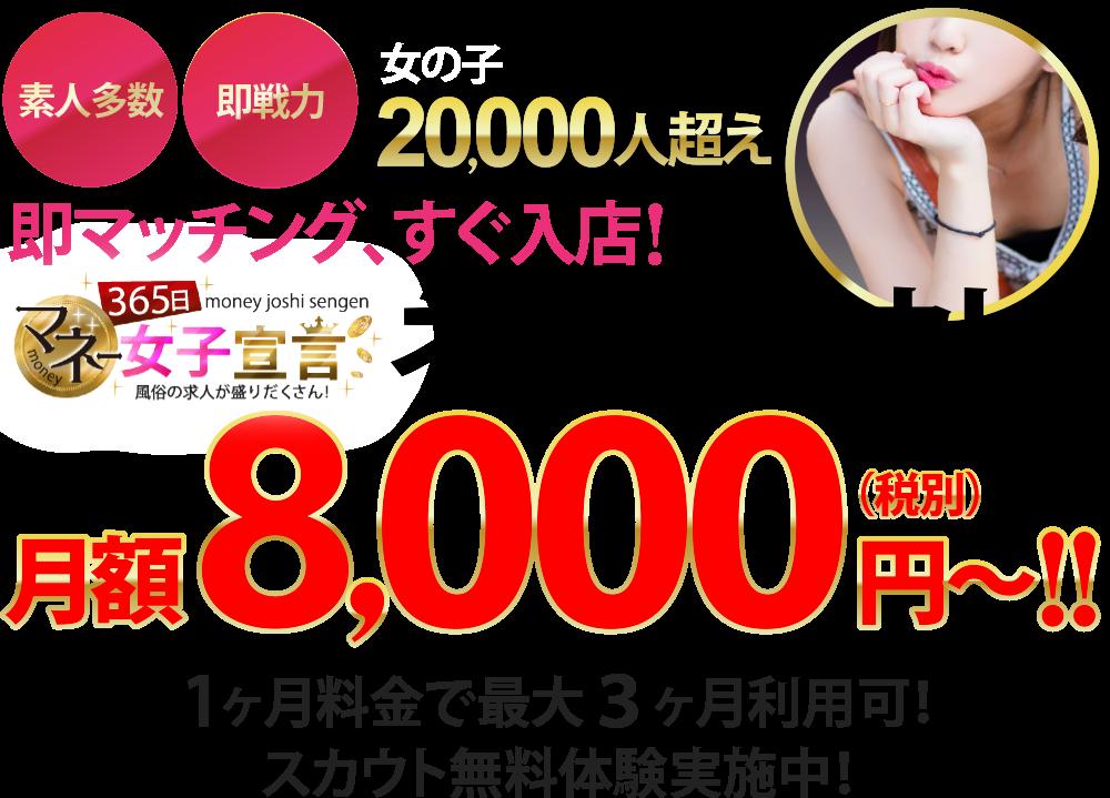 365マネー「ネットスカウト!!」月額8,000円~!!(税別)